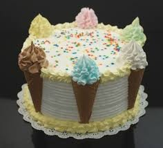 Image result for ice cream cone cake