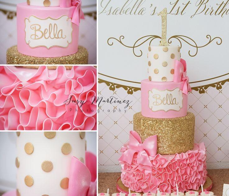 Golden Girls Theme Wedding Ideas: Help Cover A Cake In Glitter