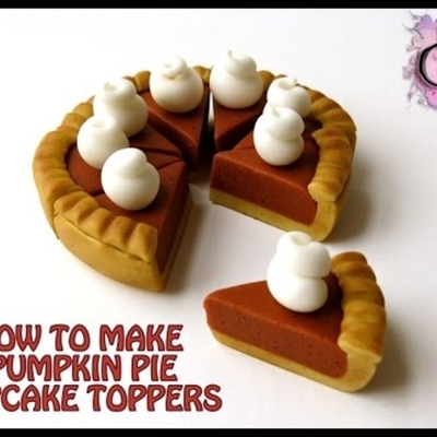 How To Make Pumpkin Pie Cupcake Toppers on Cake Central