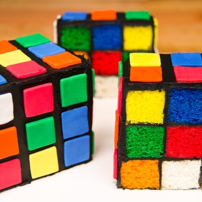Surprise Inside Rubik's Cube Cake on Cake Central