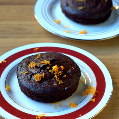 Valentine's Day Dessert: Orange Chocolate Cakes for Two on Cake Central