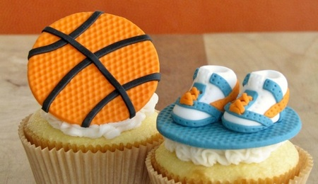 Nothing But Net: A Basketball Cupcake Topper in 7 Easy Steps