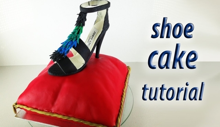 Gumpaste Stiletto Shoe Cake & Fondant Pillow Cake Tutorial
