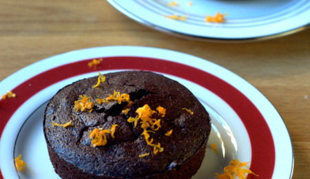 Valentine's Day Dessert: Orange Chocolate Cakes for Two