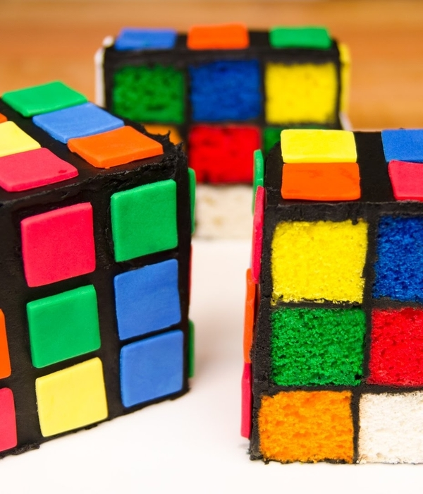 Surprise Inside Rubik's Cube Cake