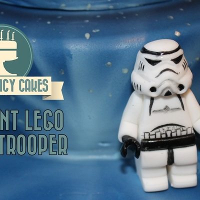 Fondant Lego Stormtrooper Cake Topper on Cake Central
