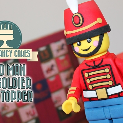 Lego Cake Topper Toy Soldier Tutorial on Cake Central