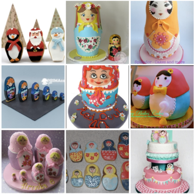 Top Nested Doll (Matryoshka) Cookies and Cakes on Cake Central