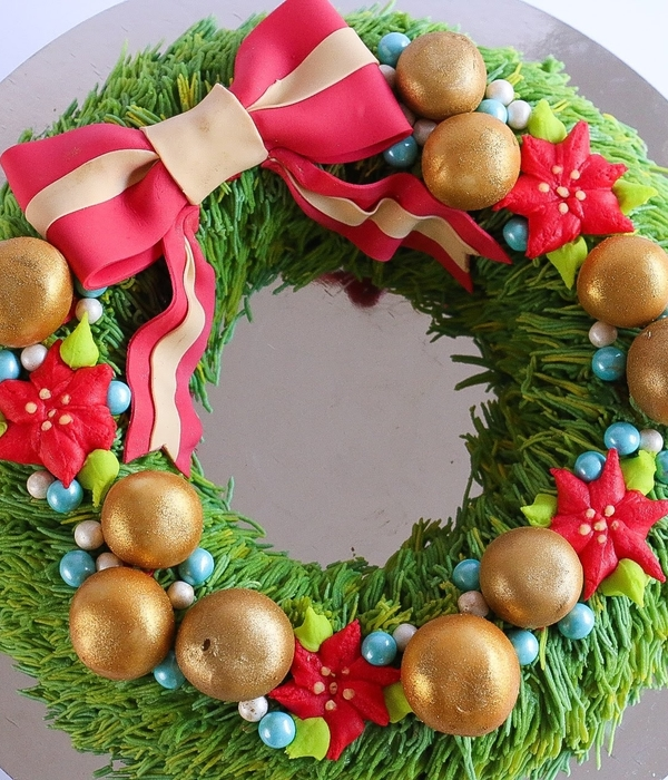 Christmas Wreath Cake Tutorial
