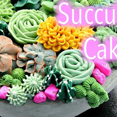 Buttercream Succulents Tutorial on Cake Central