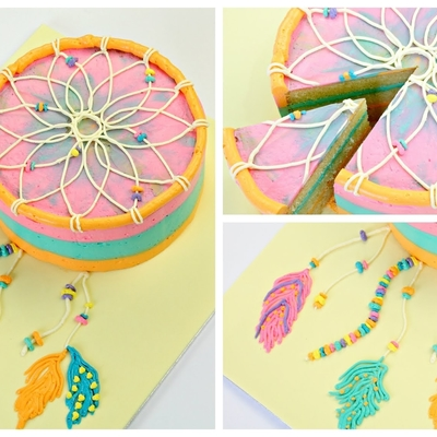 Dreamcatcher Cake Tutorial on Cake Central