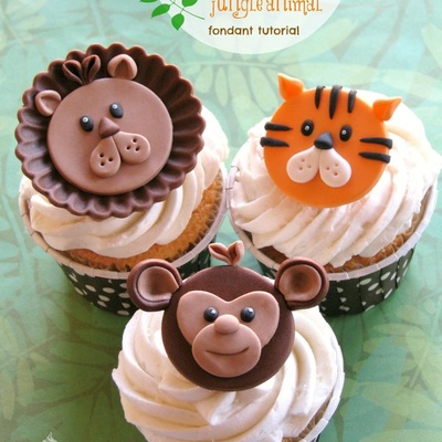 Go Wild With 3 Jungle Animal Cupcake Toppers on Cake Central