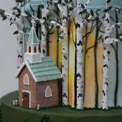 Gumpaste Birch Tree Tutorial on Cake Central