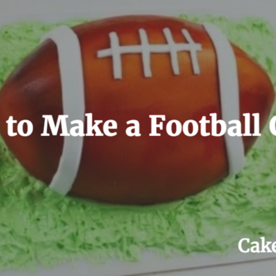 How to Make a Football Cake on Cake Central