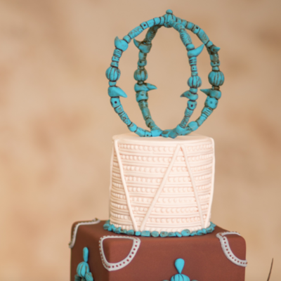Turquoise Sphere Cake Topper Tutorial on Cake Central