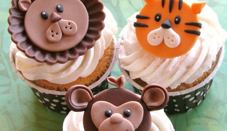 Go Wild With 3 Jungle Animal Cupcake Toppers