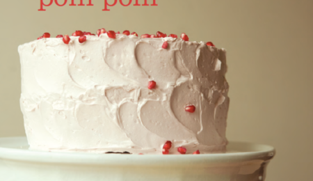 Orange Butter Cake with Pomegranate Italian Meringue Buttercream