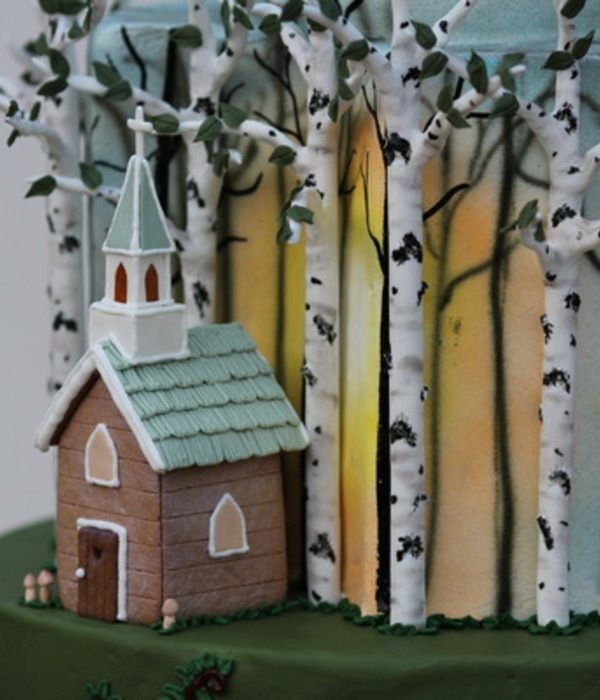 Gumpaste Birch Tree Tutorial