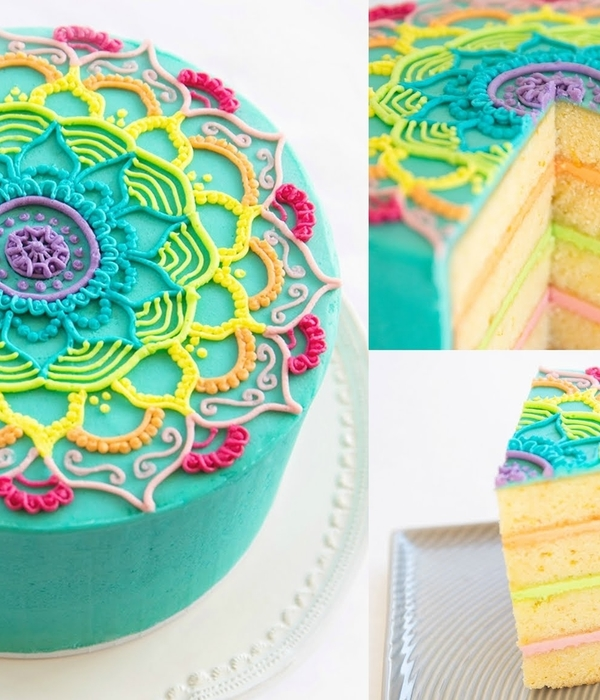 Rainbow Mandala Buttercream Piping Tutorial
