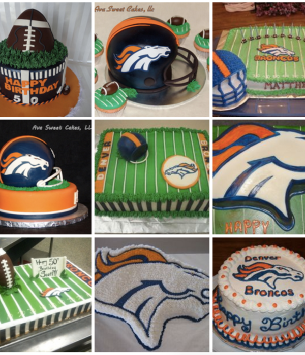 Top Denver Broncos Cakes