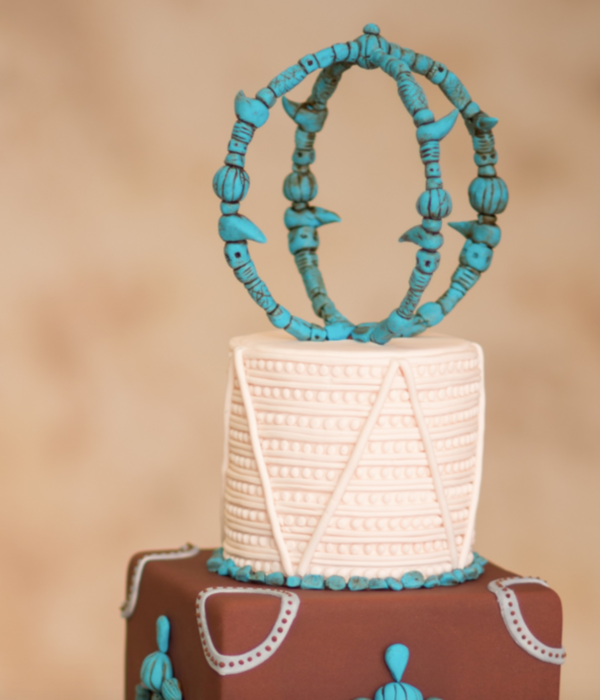 Turquoise Sphere Cake Topper Tutorial