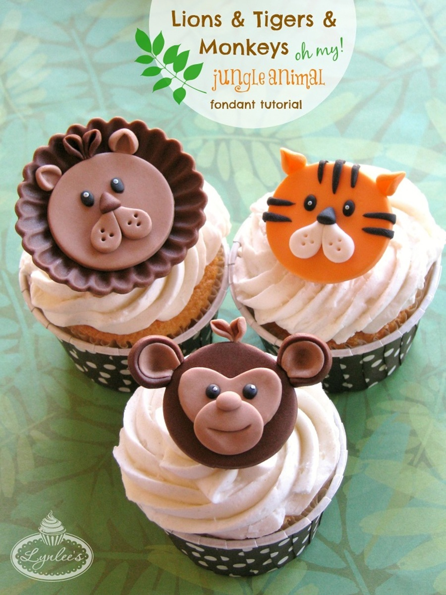 Go Wild With 3 Jungle Animal Cupcake Toppers Cakecentral Com