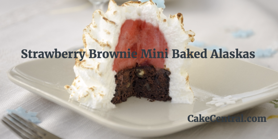 Strawberry Brownie Mini Baked Alaskas - CakeCentral.com