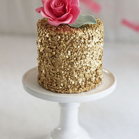 Edible Gold Sequins Cake :-)