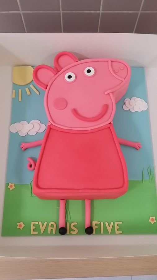 peppa pig cake pan peppa pig shapes cake cakecentral 6457