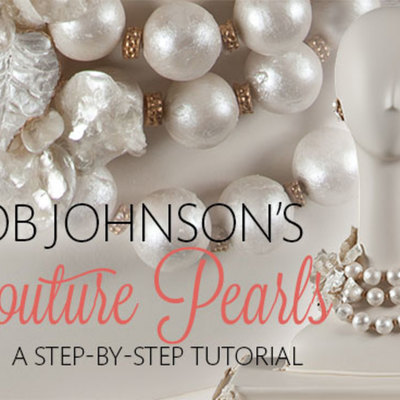 Bob Johnson's Gumpaste Couture Pearl Necklace Tutorial on Cake Central