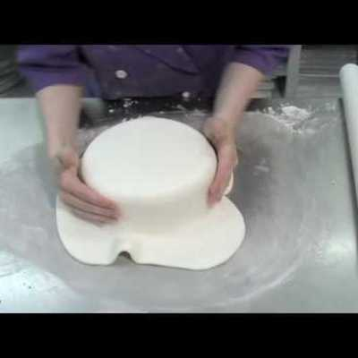 How to cover a round cake in fondant tutorial on Cake Central
