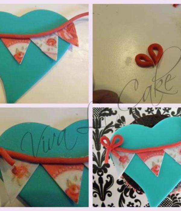 5 Different Valentine Cake Cookie Cupcake Toppers
