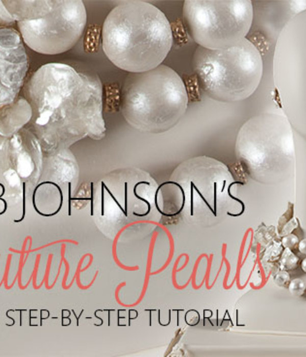 Bob Johnson's Gumpaste Couture Pearl Necklace Tutorial...