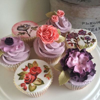 Rosy Cupcakes Inspiration Challenge Winner on Cake Central