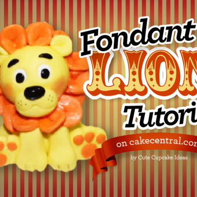 How To Make A Fondant Lion Cake Topper Tutorial Part 2 on Cake Central