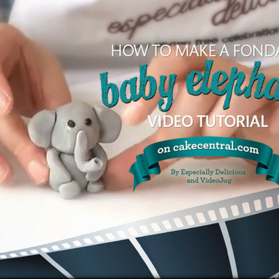 How To Create a Fondant Elephant on Cake Central