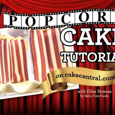 Popcorn Cake Tutorial by Elisa Strauss on Cake Central