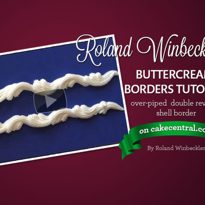 Roland Winbeckler's Over-Piped Double Reverse Shell Buttercream Border Tutorial on Cake Central