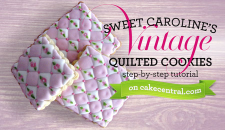Vintage Quilted Cookie Tutorial