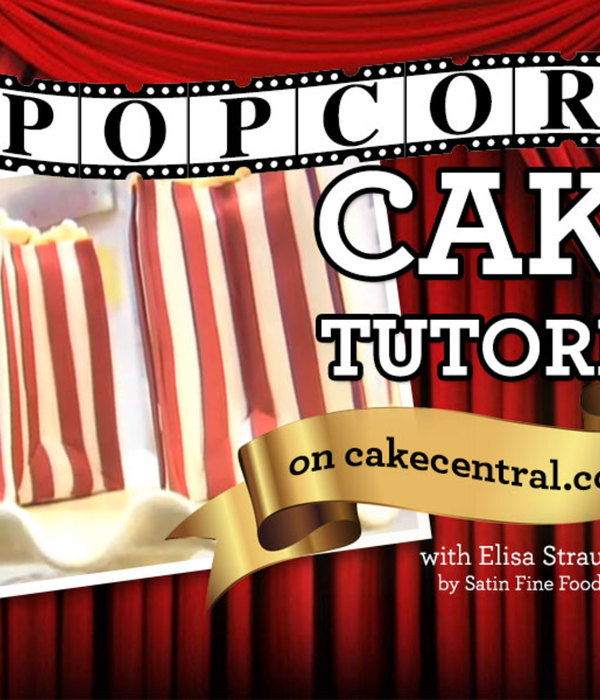 Popcorn Cake Tutorial by Elisa Strauss