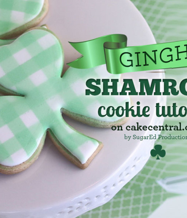 St. Patrick's Day Shamrock Cookie Tutorial - Gingham...