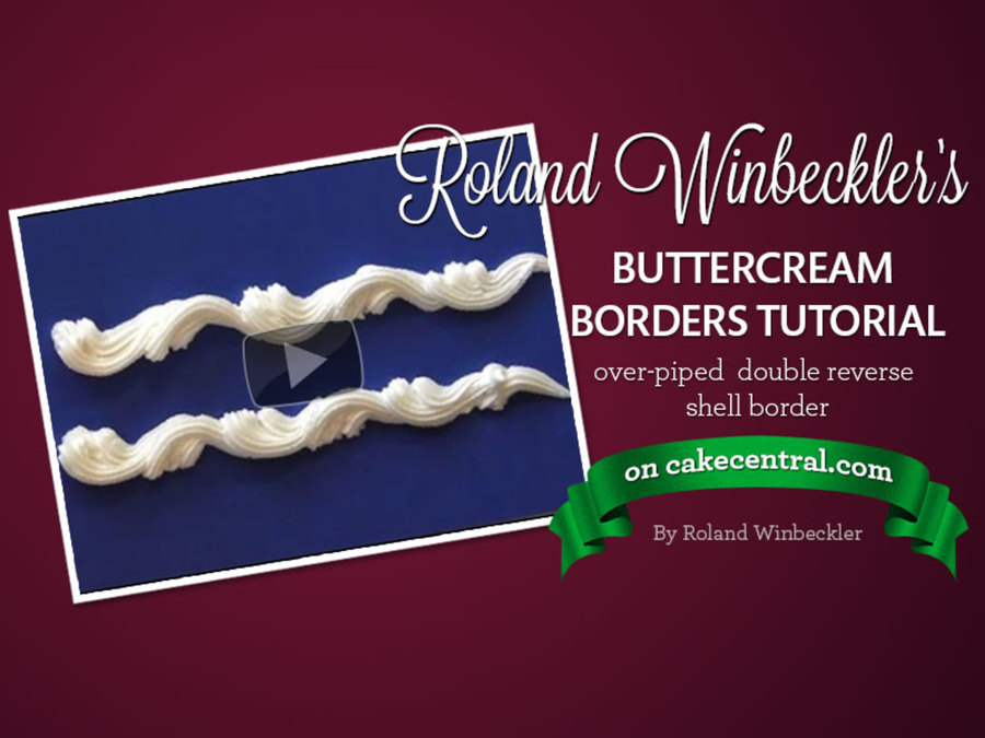 Cake Decorating Piping Techniques How To Make Reverse Shells And Ropes : Roland Winbeckler s Over-Piped Double Reverse Shell ...