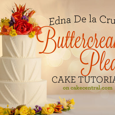 Edna De la Cruz's Buttercream Pleats Tutorial on Cake Central