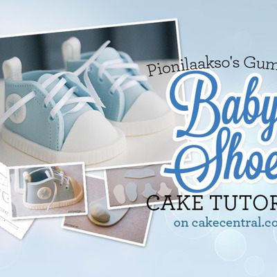 How to Make Gumpaste Baby Shoes for a Baby Shower Cake on Cake Central