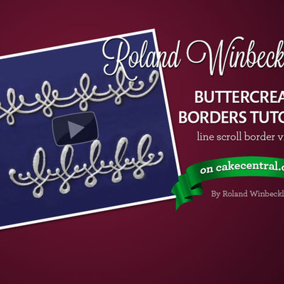 Roland Winbeckler's Buttercream Line Scroll Border Tutorial on Cake Central