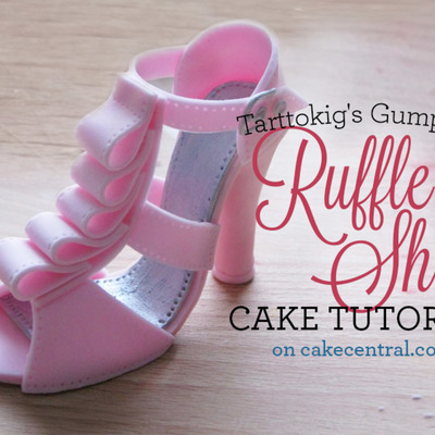 Gumpaste Ruffled High Heel Cake Topper Tutorial on Cake Central