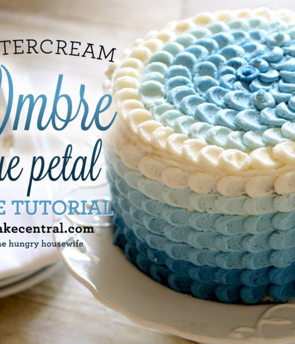 Blue Ombre Petal Cake Tutorial