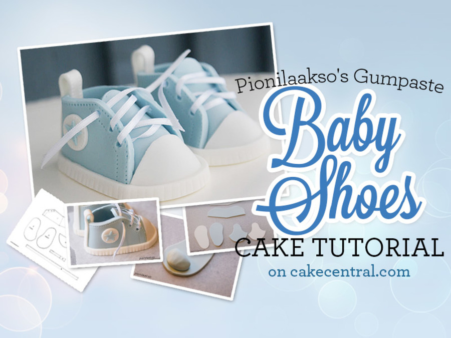 Cake Decorating Baby Shoe Template : How to Make Gumpaste Baby Shoes for a Baby Shower Cake ...