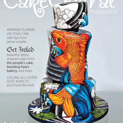 Behind the Scenes on Kaysie Lackey's Tattooed Cover Cake on Cake Central