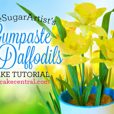 How to Make a Gumpaste Daffodil on Cake Central